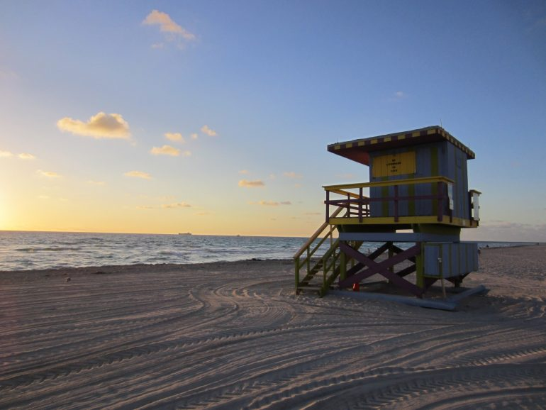 Road Trip USA: Beach hut in South Beach, Miami