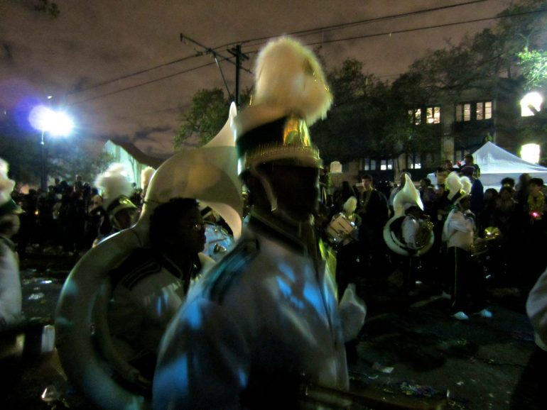 Road Trip USA: People in costumes at Bacchus Parade, New Orleans