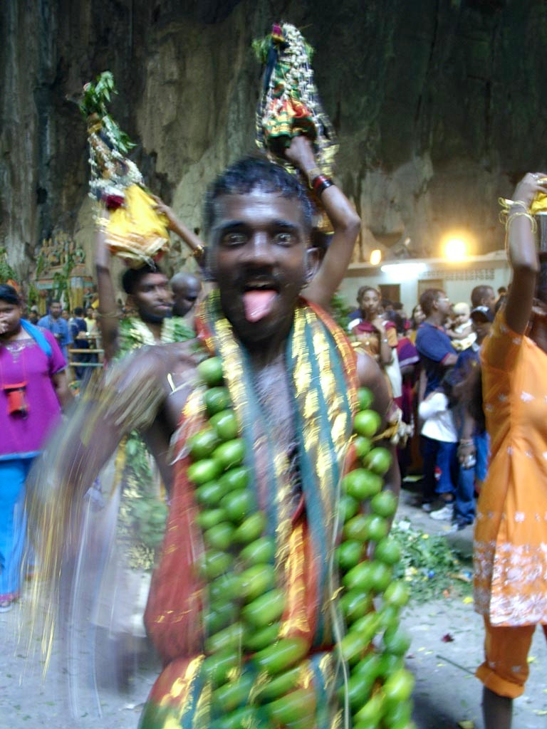 Festivals around the world: People in trance during Taipusam