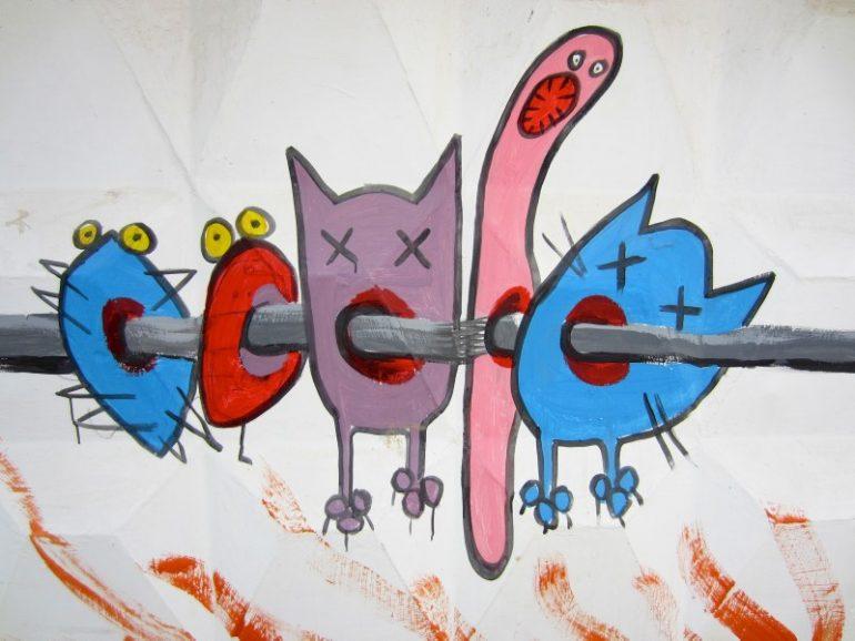 Beste Festivals: Wandmalerei beim Kazantip Festival in der Ukraine