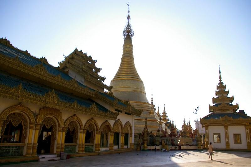 Pagoda in Pathein at the Ayeyarwaddy