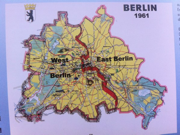 Berlin Wall Trail: Map of the Berlin wall
