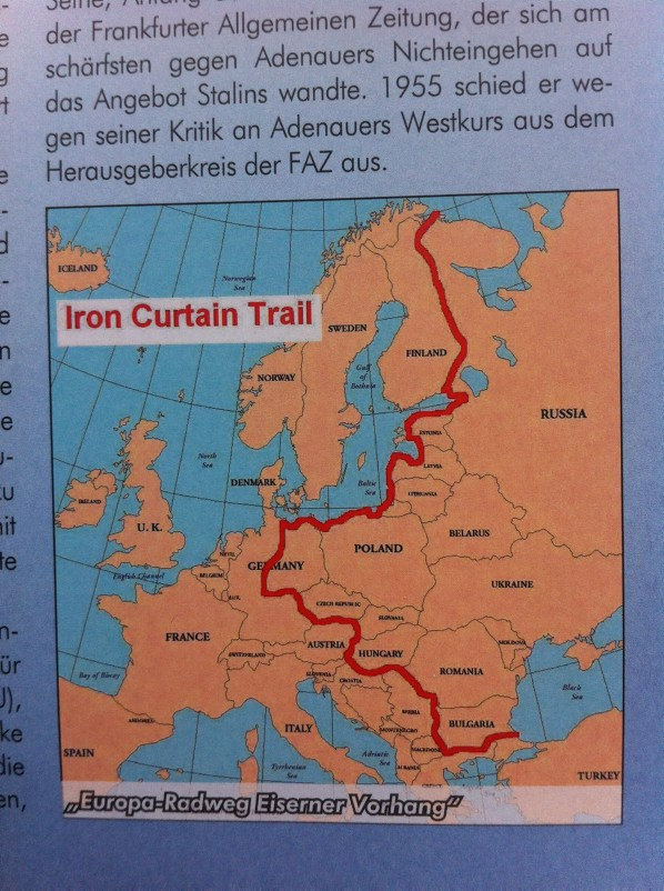 The Iron Curtain Trail (source: Michael Cramer - Berliner Mauer-Radweg)