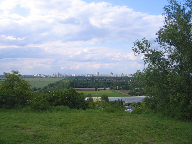 Berlin Wall Trail: View of Berlin from a hill