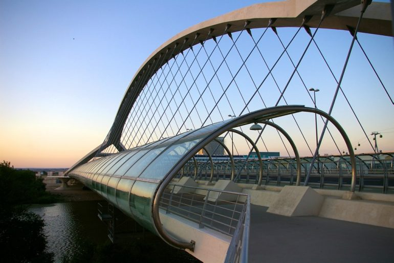 Expo Zaragoza: Bridge and the river Ebro
