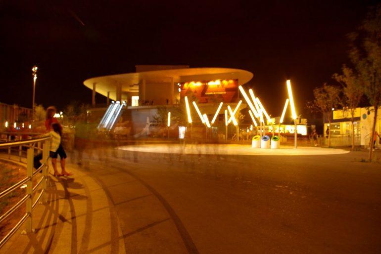Nacht bei der Expo 2008