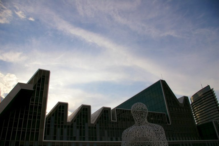 Expo Zaragoza: Buildings and sky