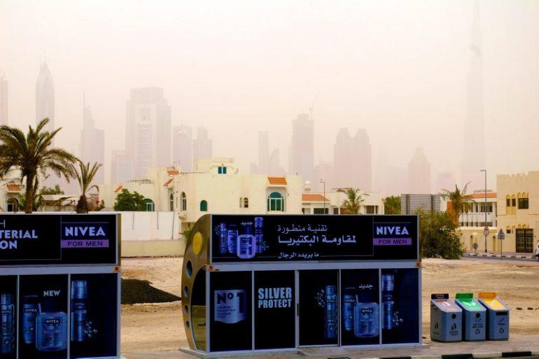 Zwischenstopp in Dubai: Klimatisierte Bushaltestelle