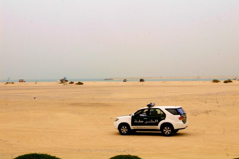 Patroullien am sonst verlassenen Strand