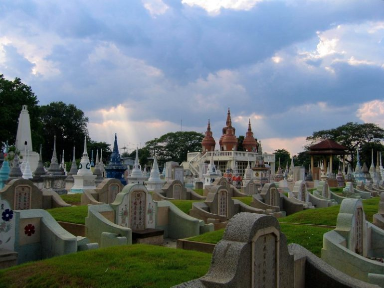 Most beautiful cemeteries: Stupas at Kanchanaburi Cemetery