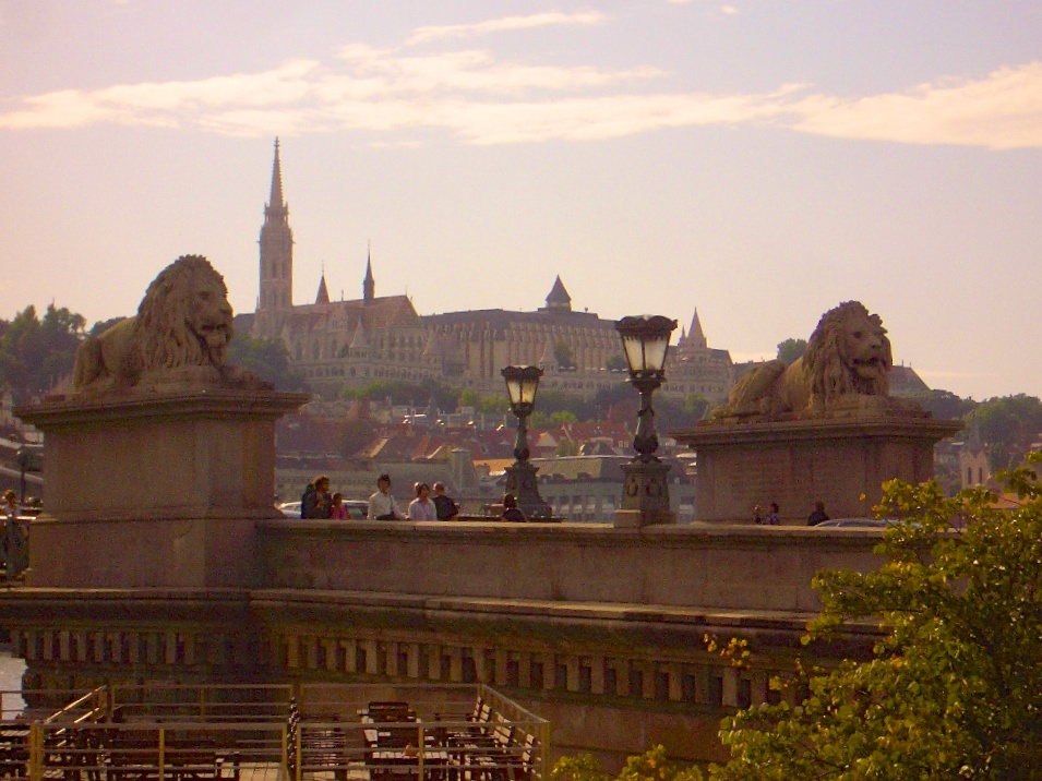 The Budapest Castle Palace from the other side of the river