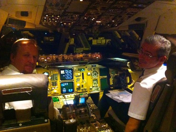 Cockpit - sehr anders als in meinem Traum.