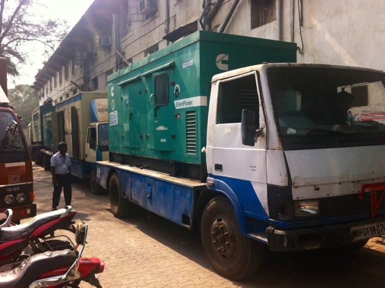 Generator-LKW am Bollywood Set