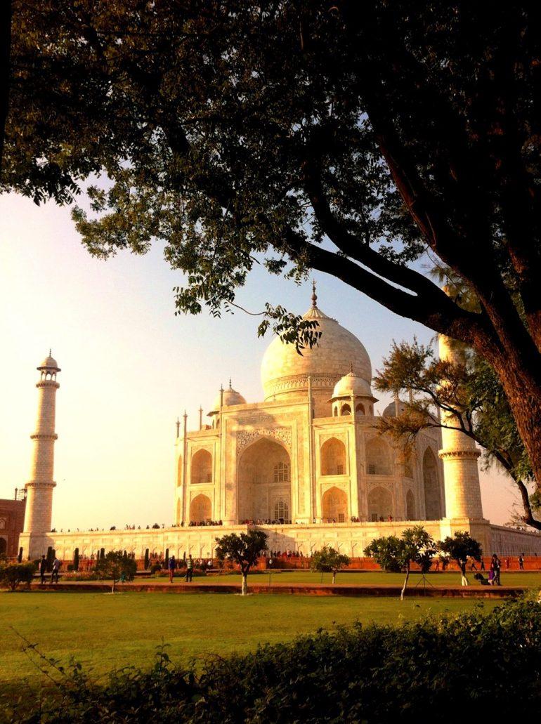 Renting an Enfield in India: Taj Mahal