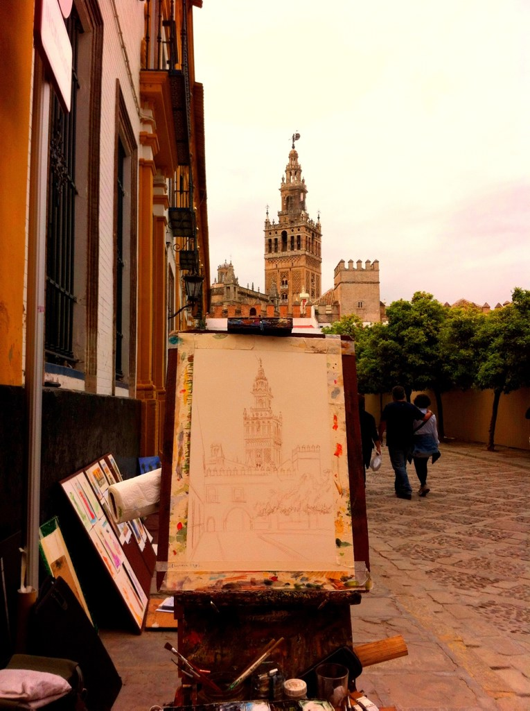 Algarve insider tips: Drawing of Sevilla Cathedral