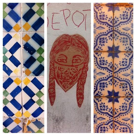 Tiles and street art