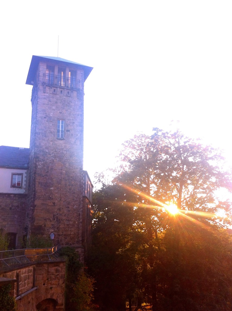 Sonnenuntergang auf Burg Hohnstein