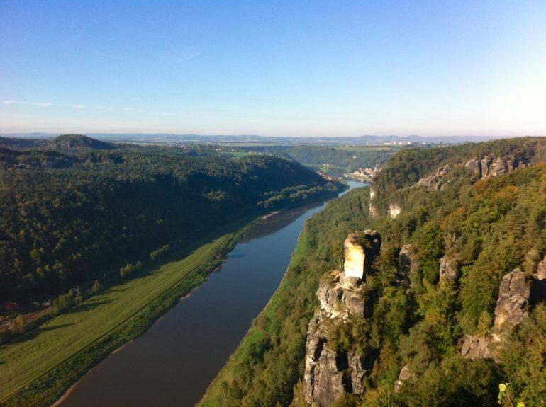 Sächsische Schweiz: Blick auf die Elbe