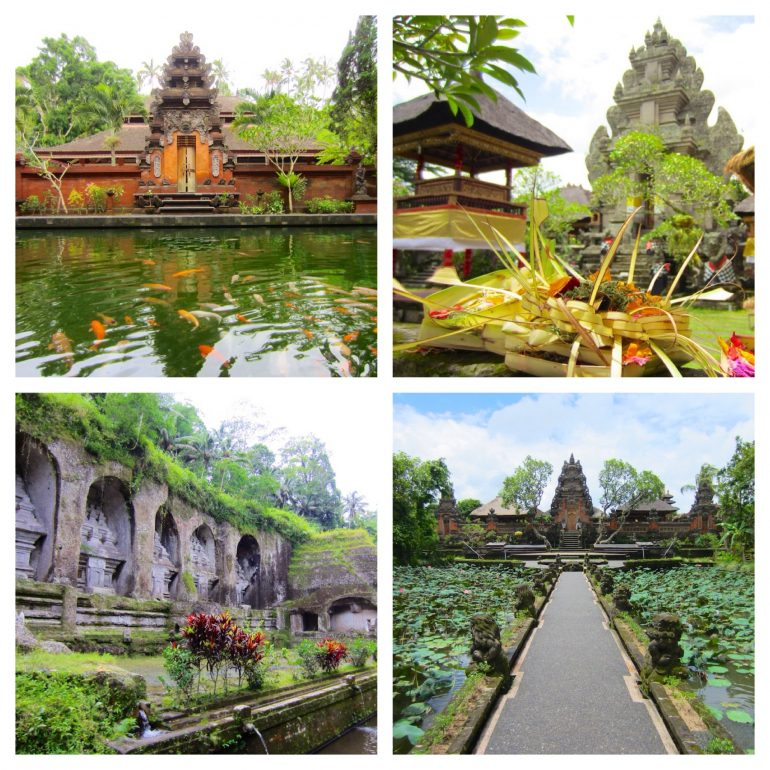Indonesien Highlights: Blick auf verschiedene Tempel in Ubud