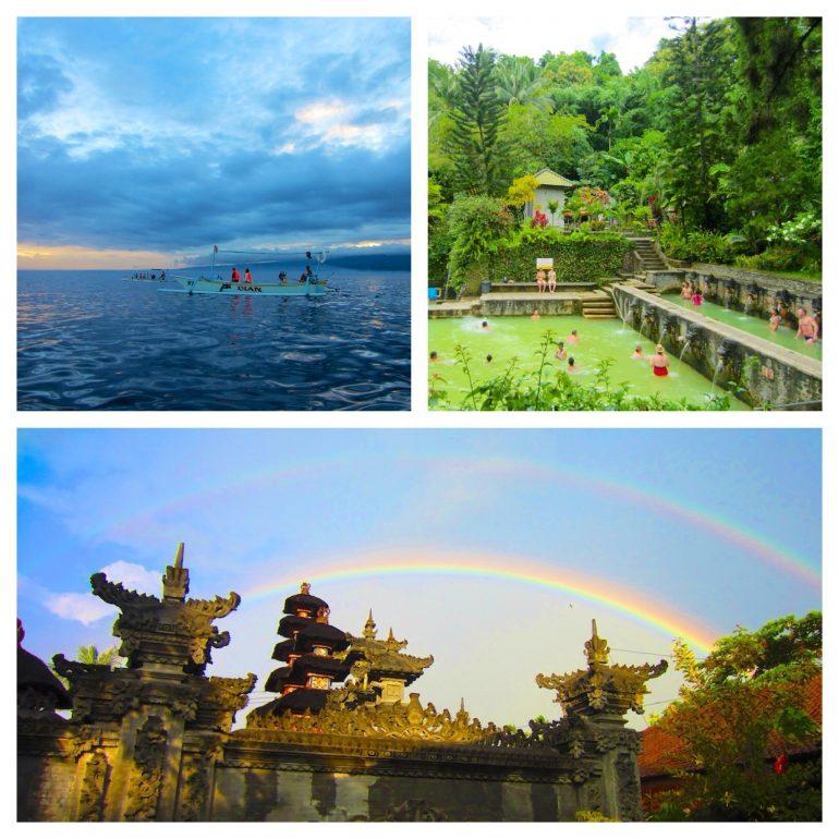Indonesien Highlights: Boot im Morgengrauen, Quellen und Tempel auf Bali