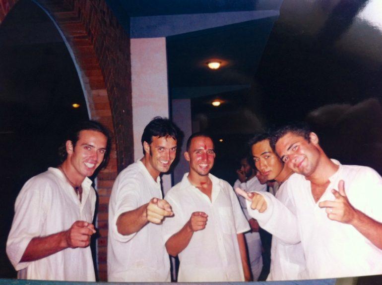 """""""Marco Buch"""" mit Reisepartnern in Goa 1999"""
