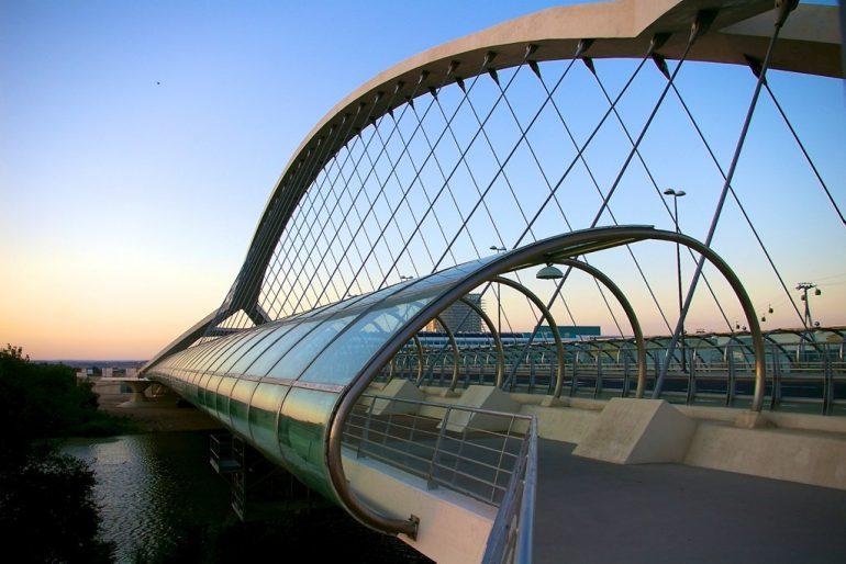 Lieblingsfotos: Brücke zum Expo-Gelände, Zaragoza, Spanien