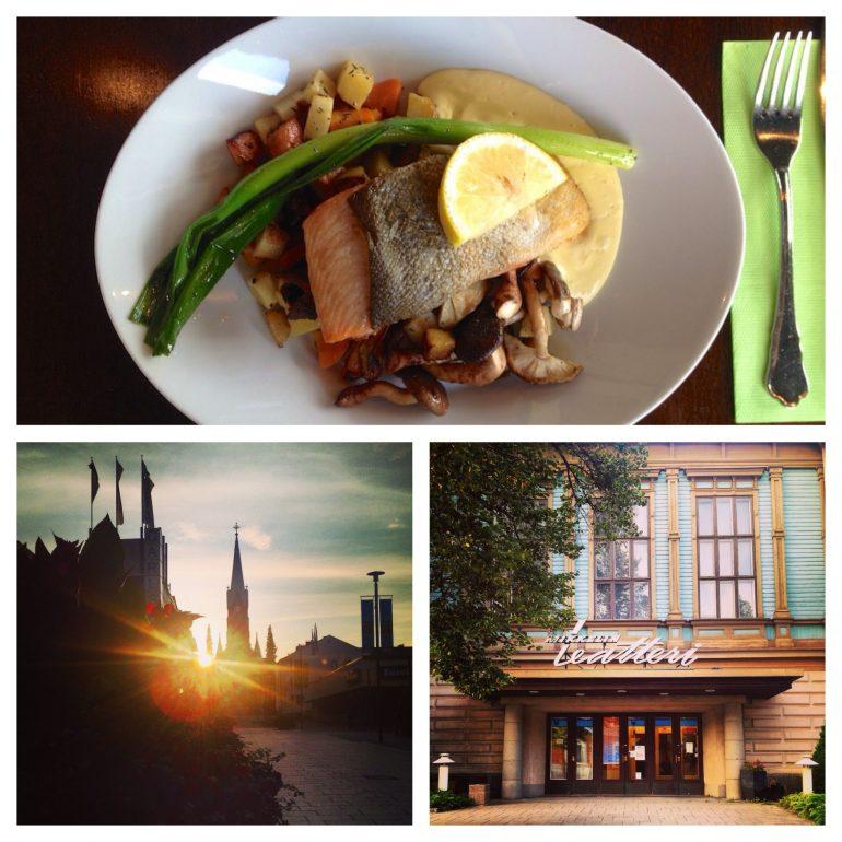 Kirche, Hotel und ein Gericht in Mikkeli