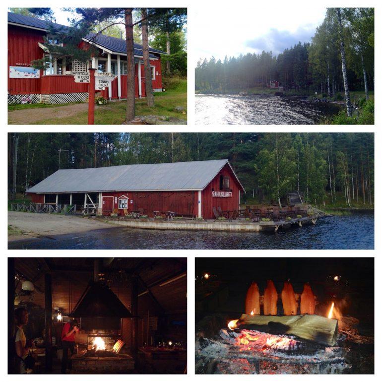 Hütten und Wälder im Osten von Finnland