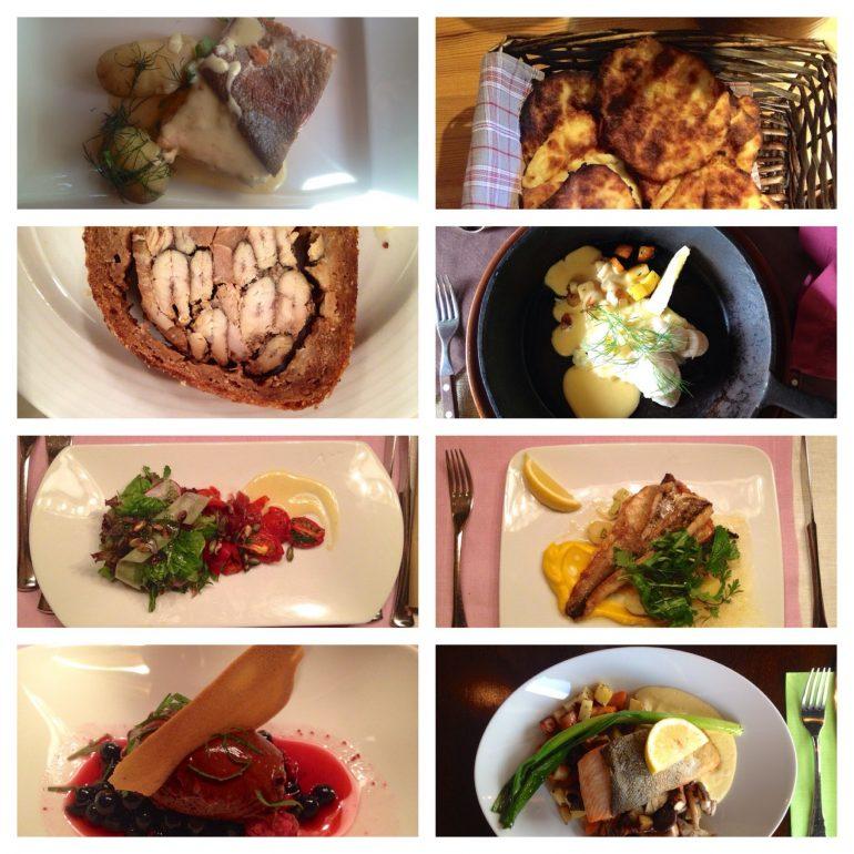 Verschiedene typische Gerichte aus Finnland