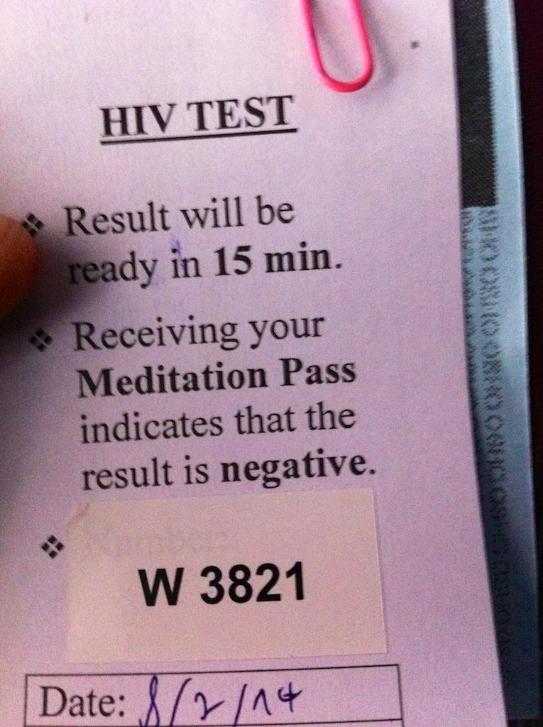 HIV Test - man kommt nicht drum herum