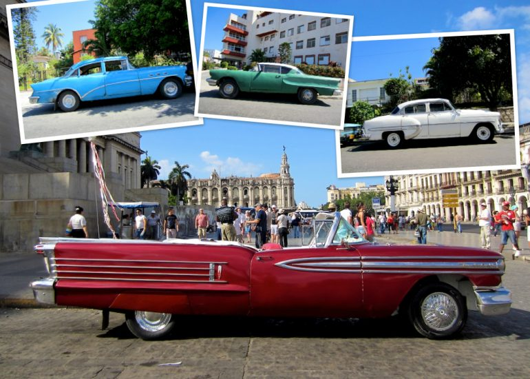 Cuba cars: American classic cars in several colors