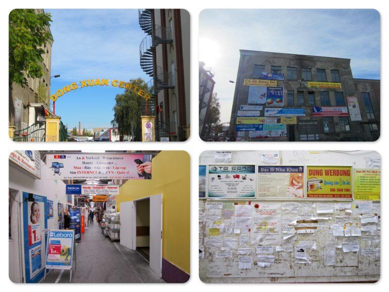 Die Gebäude des Dong Xuan Center Berlin von innen und außen