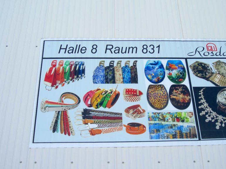 Wegweiser zu Produkten im Dong Xuan Center Berlin