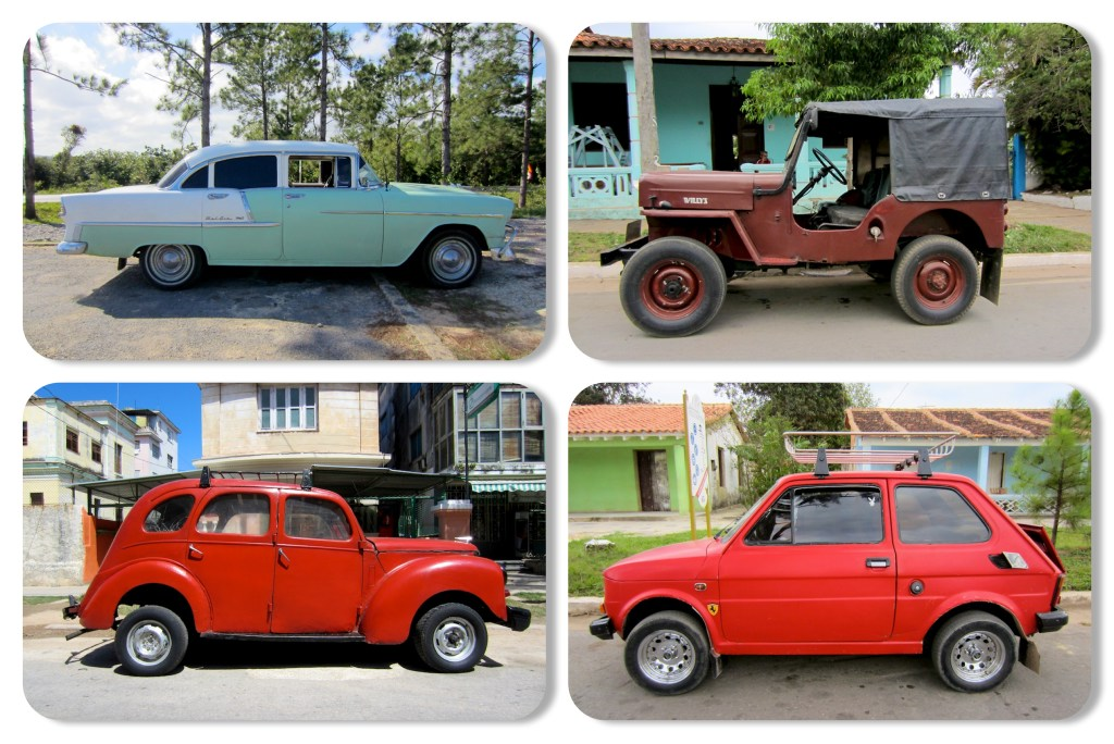 Cuba cars: Old cars of varous color and brand
