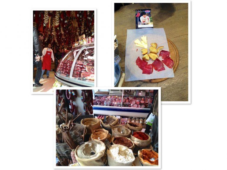 Verschiedene Produkte beim Metzger Miran in Athen