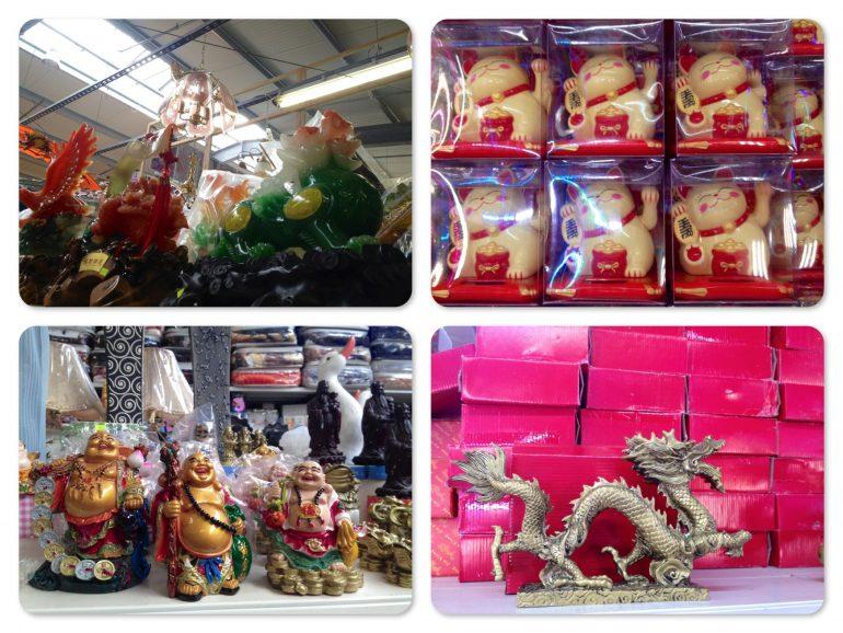 Produkte in den Geschäften des Dong Xuan Center Berlin