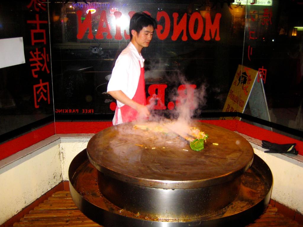 Koch an einer heissen Platte in Vancouver