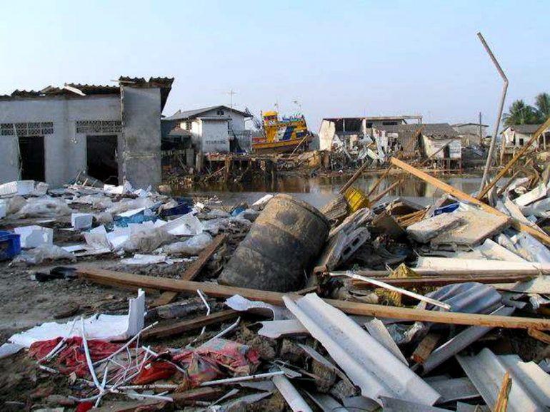 Tsunami 2004: Zerstörung in Ban Nham Khem