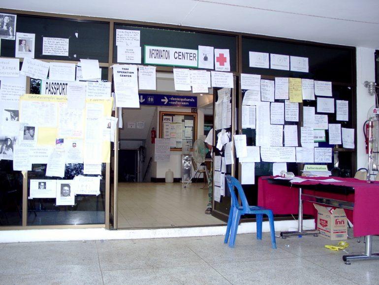 Tsunami: Das Telefonzentrum in Phuket