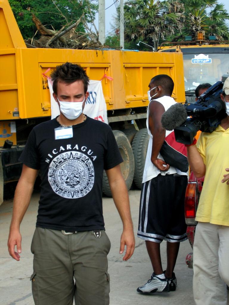 Tsunami 2004: Marco Buch als freiwilliger Helfer in Ban Nam Khem.