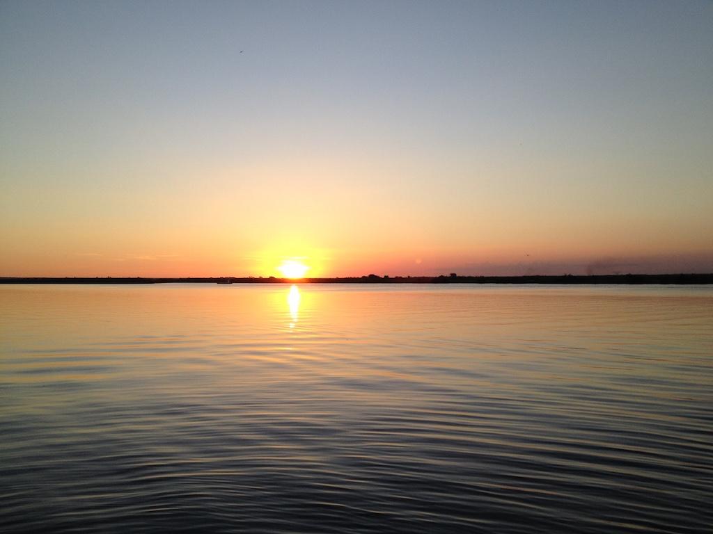 Sonneuntergang über dem Chobe River
