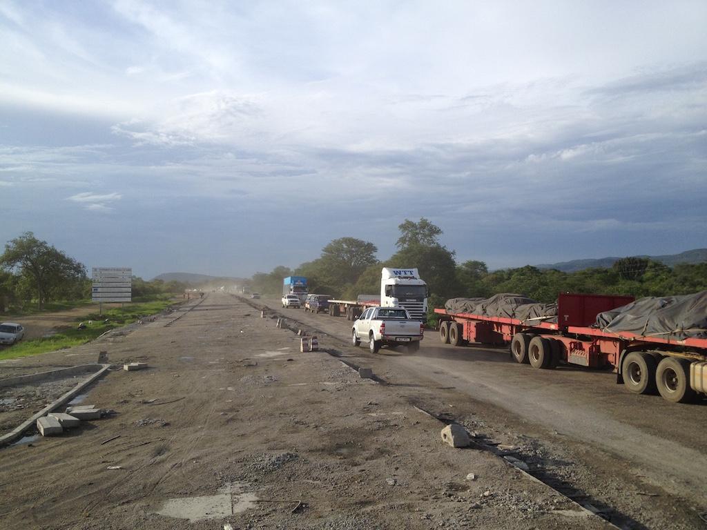 Strassenarbeiten in Sambia