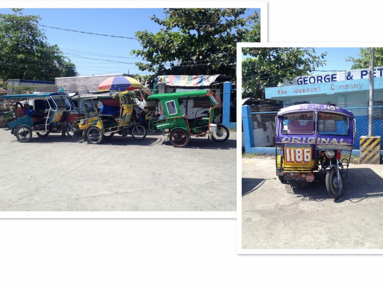 Tricycles in Dumaguete