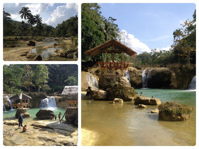 Wasserfall bei den Chocolate Hills