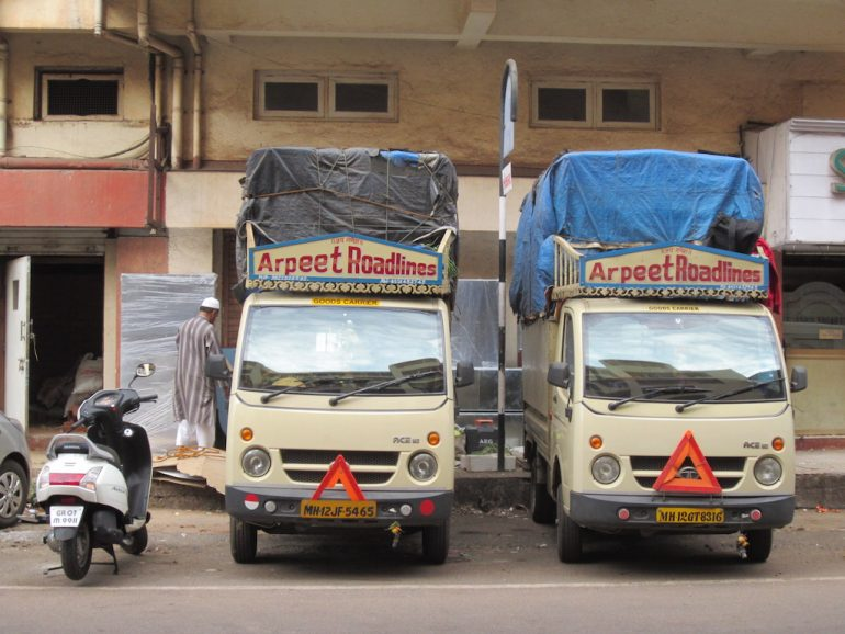 Transport-LKW in Indien