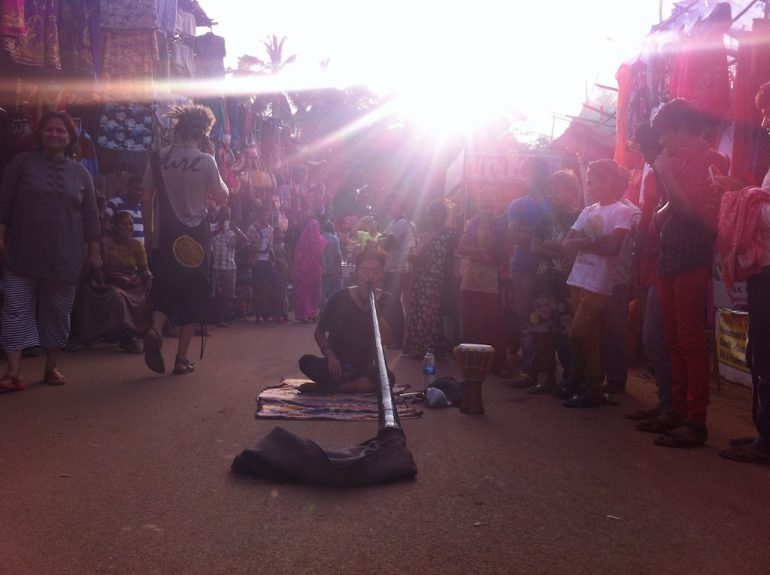 Musiker auf dem Anjuna Flohmarkt