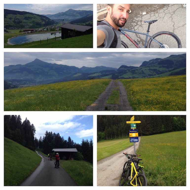 Mountainbikes und Bergwelt in Tirol