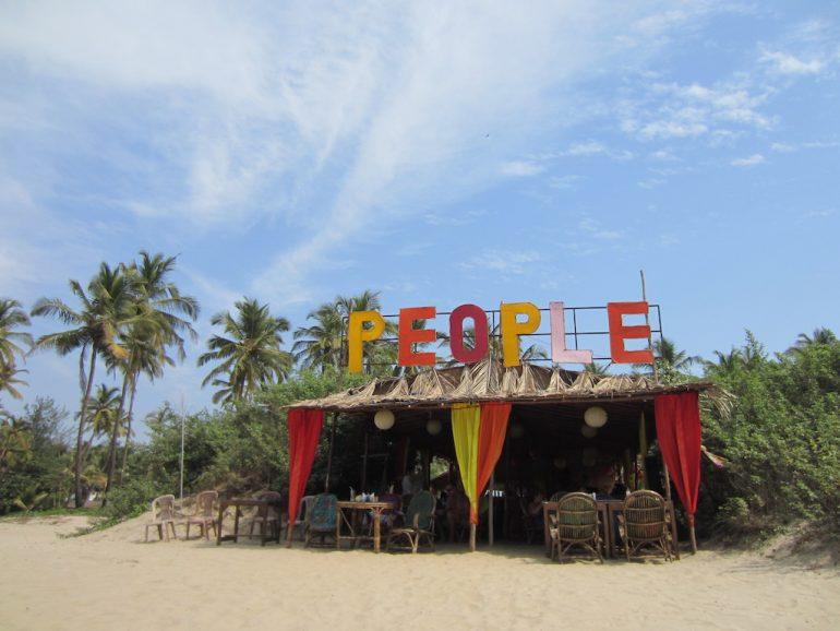 Hütte am Strand von Goa
