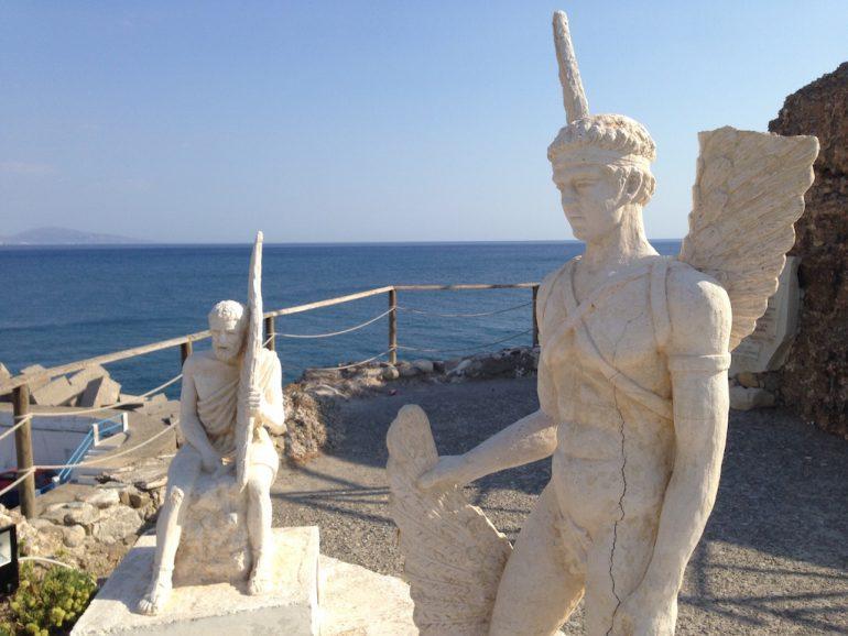 Kreta Highlights: Statuen von Ikarus und Dedalos
