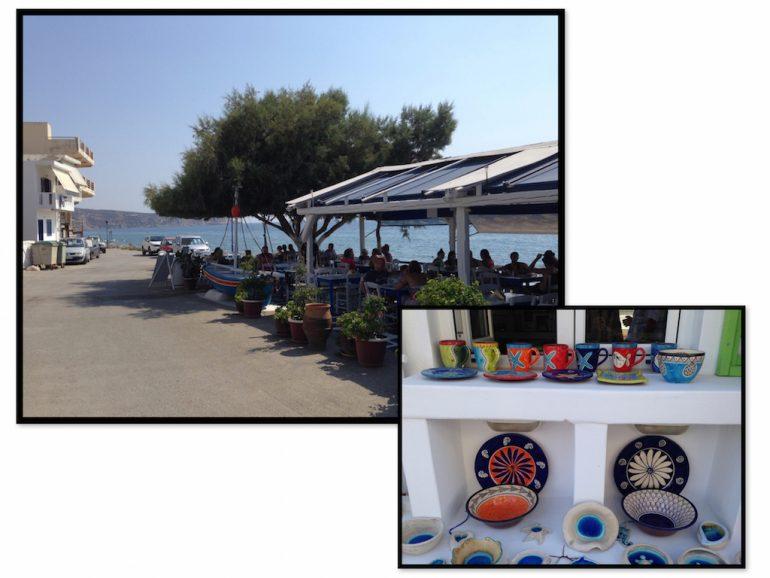 Kreta Highlights: Taverne Avra und Souvenirs in Kalamaki